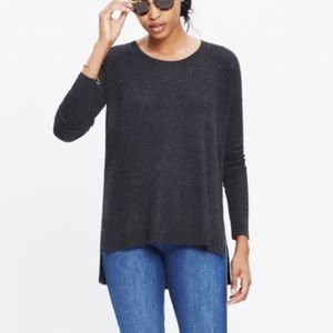 Madewell Hi-Lo Knit Pullover Long Sleeve Sweater